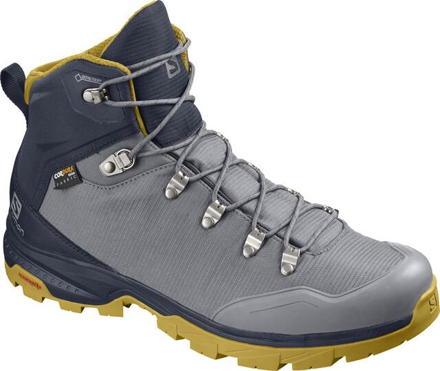 Salomon Outback 500 GTX Shoes Herre quiet shadenavy blazergreen sulphur